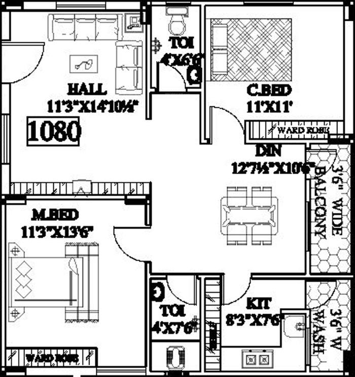 Primark vijaya residency in kukatpally hyderabad price for X2 residency floor plan