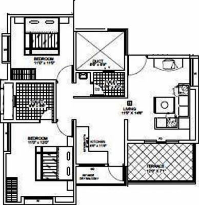 714 Sq Ft 1 Bhk 1t Apartment For Sale In Trimurti Group