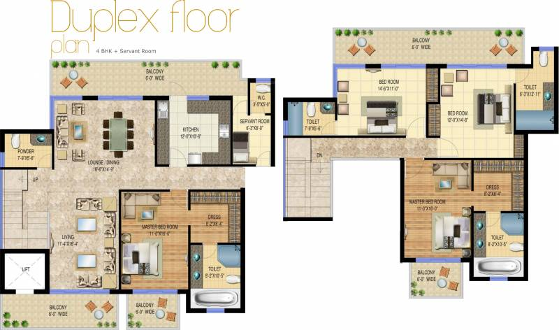 2600 Sq Ft 4 Bhk Floor Plan Image Sarvome House The