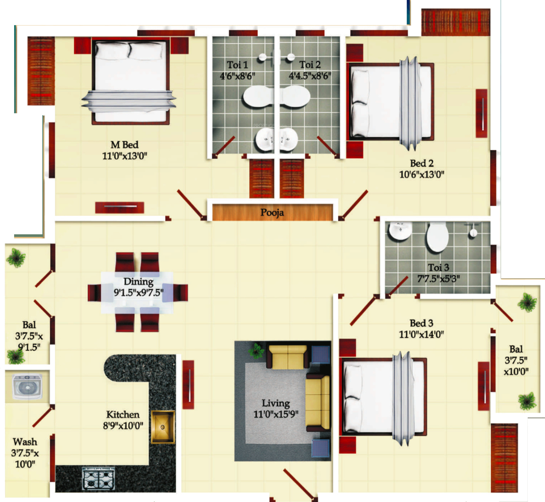 India urban oasis in anna nagar chennai price location for Urban floor plans