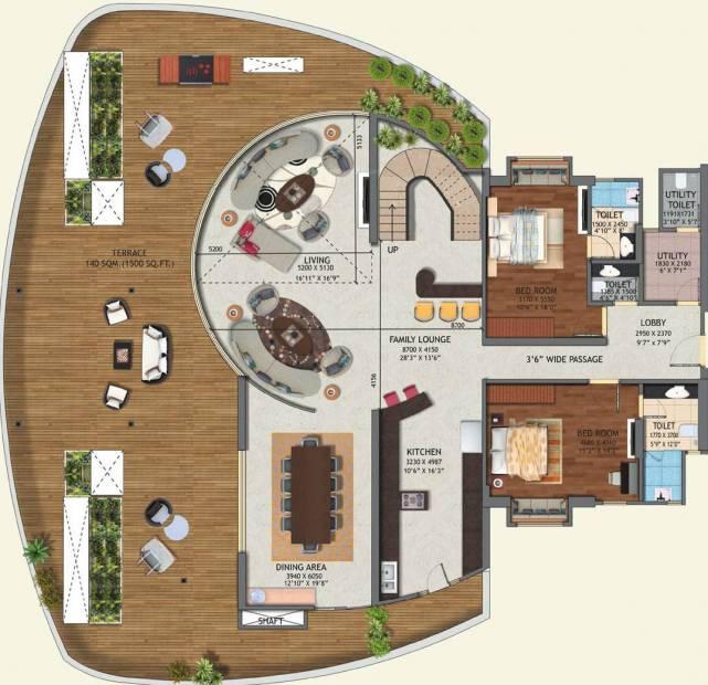 4900 sq ft 5 bhk floor plan image mahagun group moderne for 5 bhk duplex floor plan