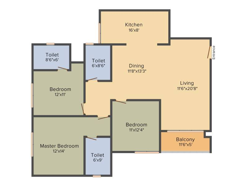Prestige Royale Gardens (3BHK+3T (1,705 sq ft) 1705 sq ft)