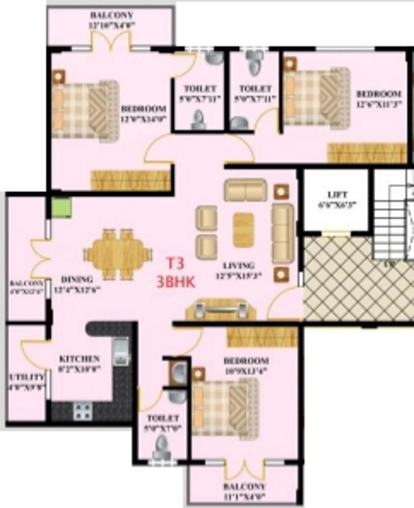Nishta residency in begur bangalore price location map for X2 residency floor plan