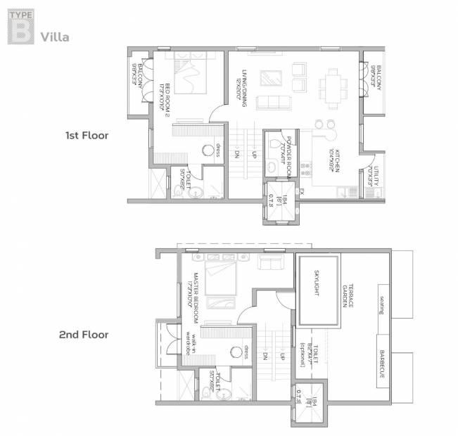 BBCL Stanburry (3BHK+3T (2,219 sq ft) 2219 sq ft)