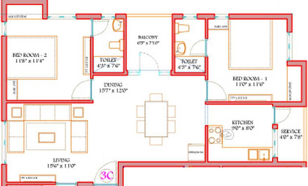 Kgeyes sowrashtra nagar by kgeyes residency in choolaimedu for X2 residency floor plan