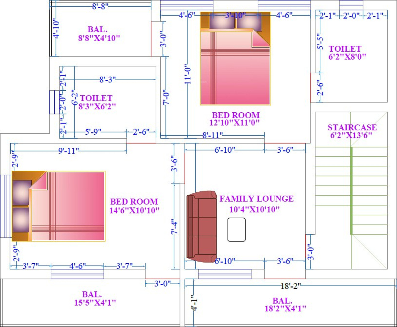 Duplex house plans in india for 1200 sq ft for Duplex house plans 1200 sq ft