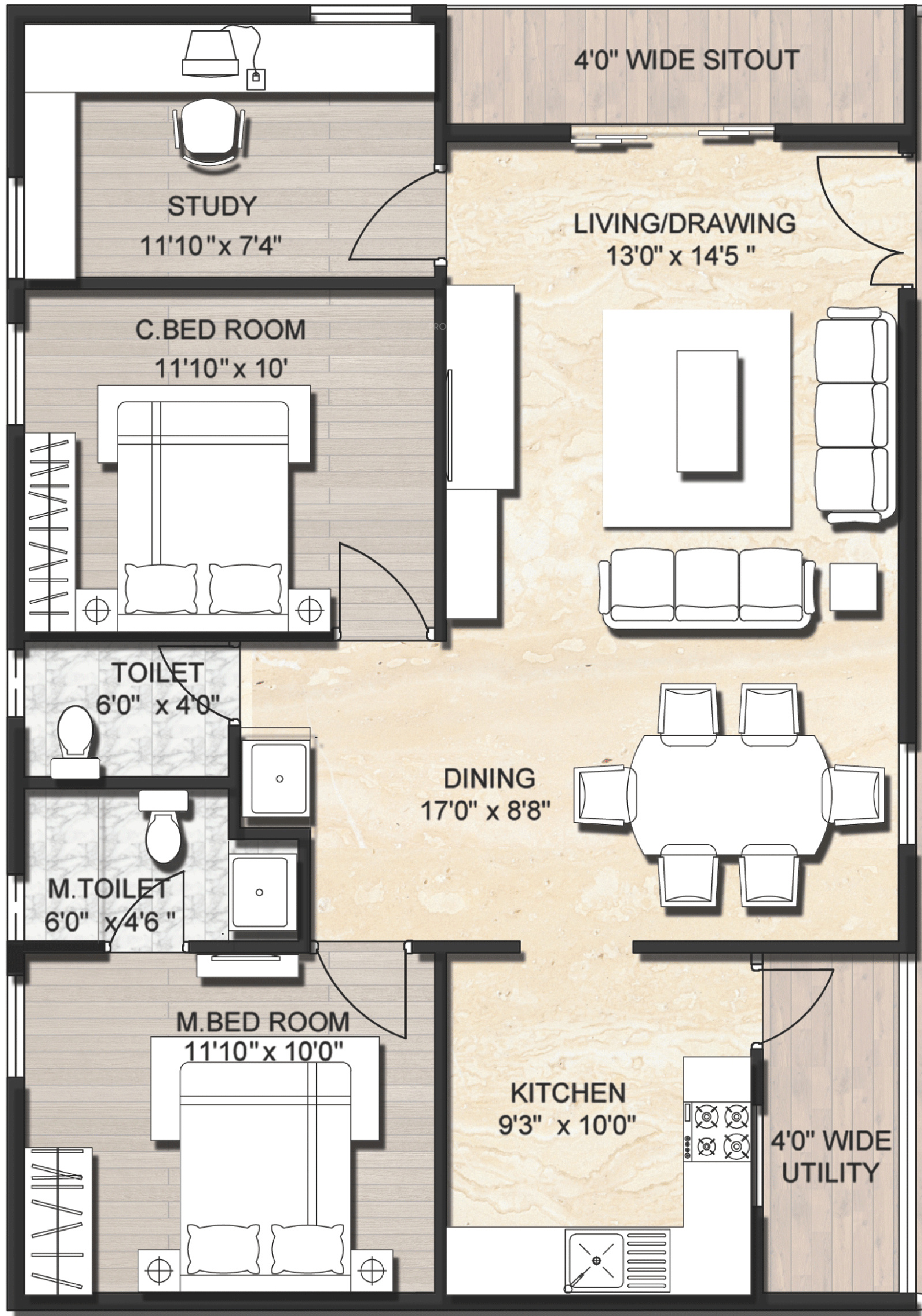Ready Made House Plans For 3bhk Escortsea