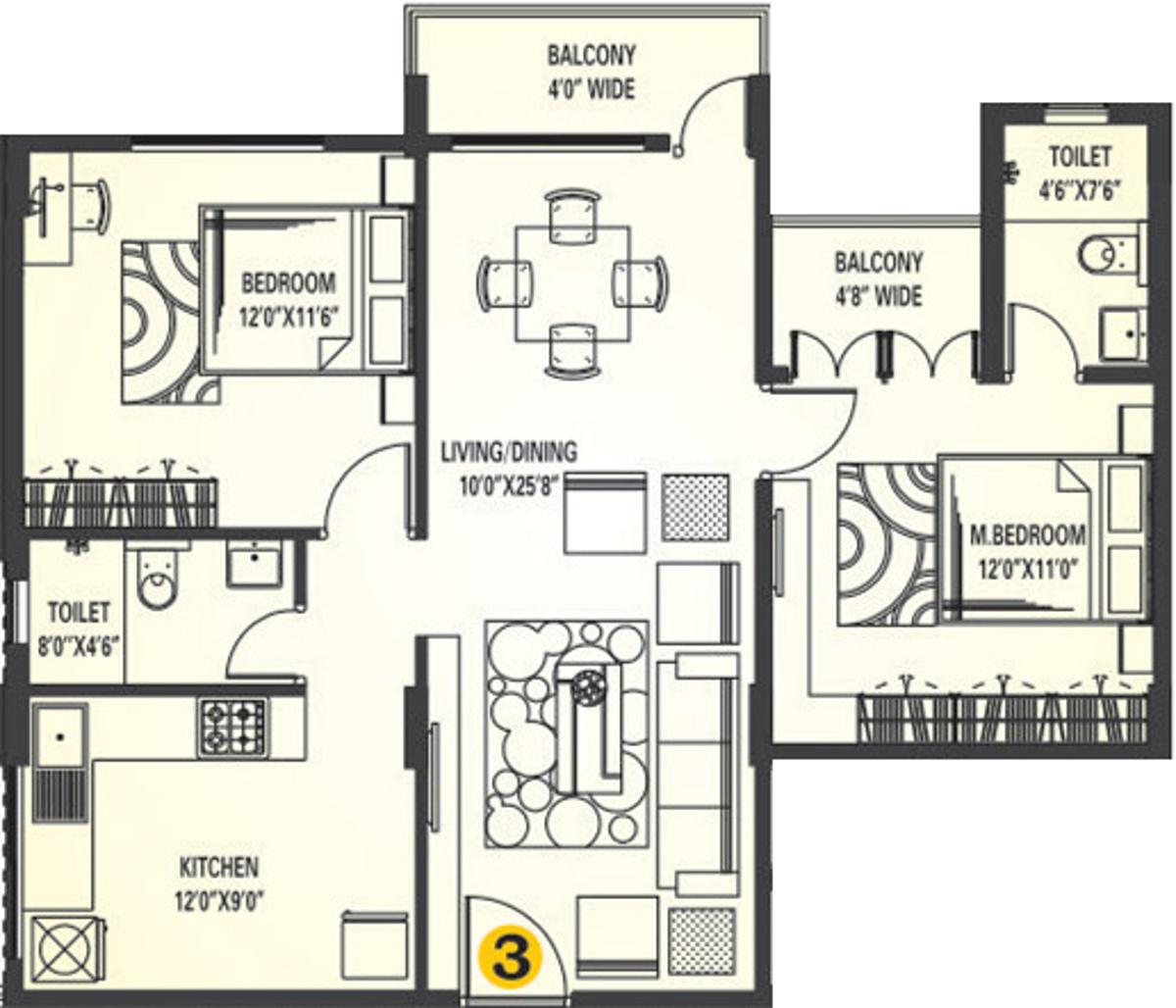 Chirag surya residency in maroli mangalore price for X2 residency floor plan