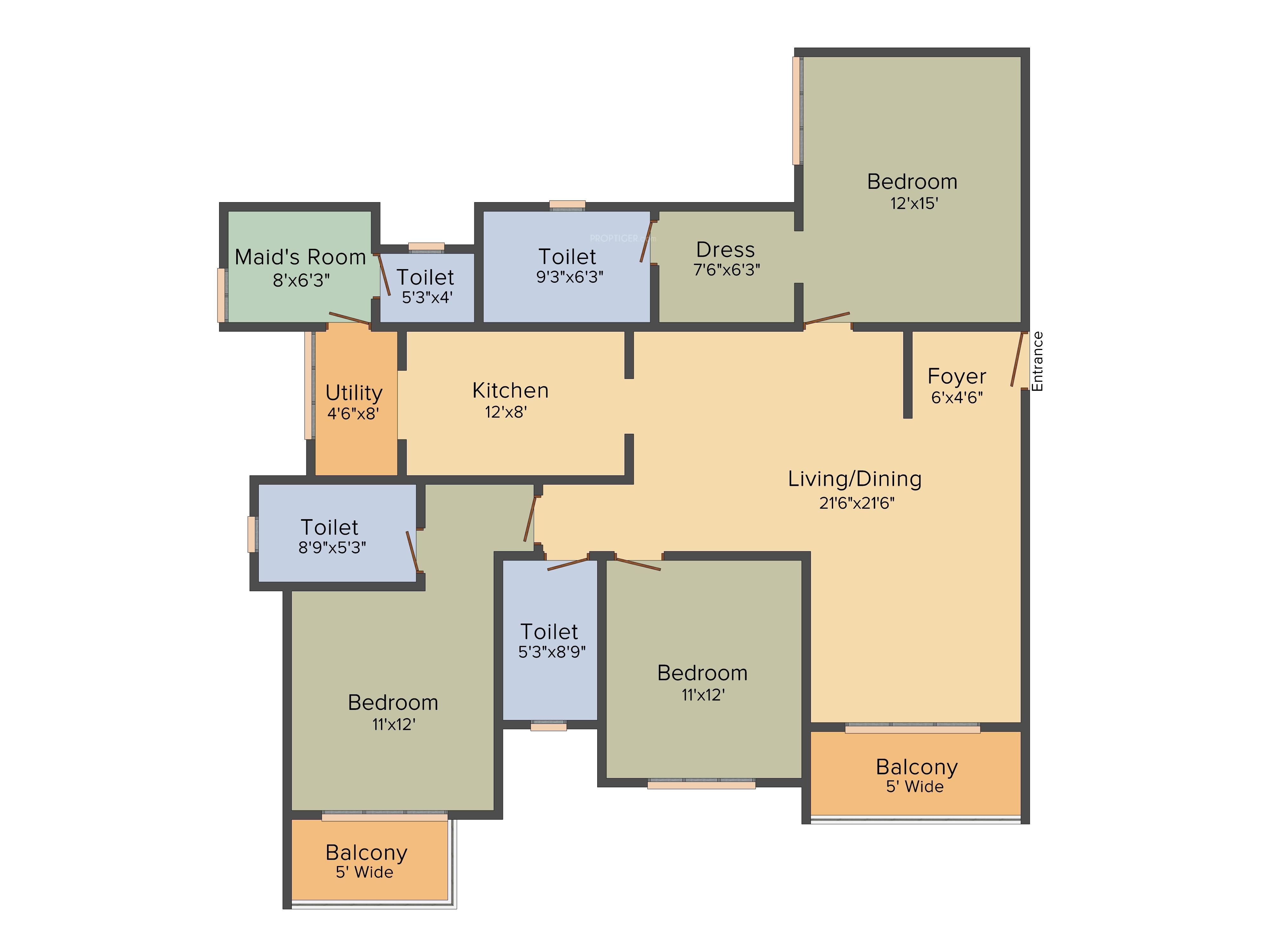 House Floor Plans 3 Bedroom 2 Bath Electrical Plan Best Wiring Diagram For Dummies 1 Bhk Explained Diagrams
