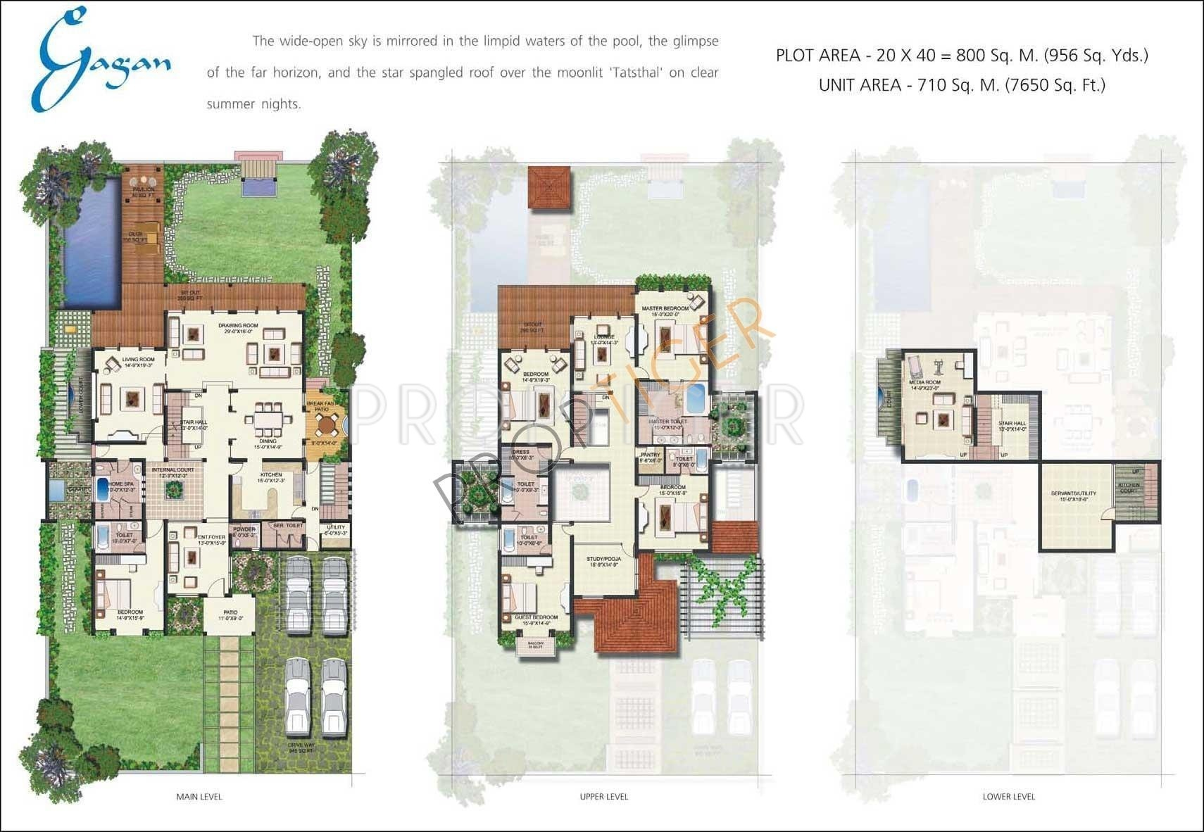 Vipul tatvam villas in sector 48 gurgaon price for Villa moderne plan