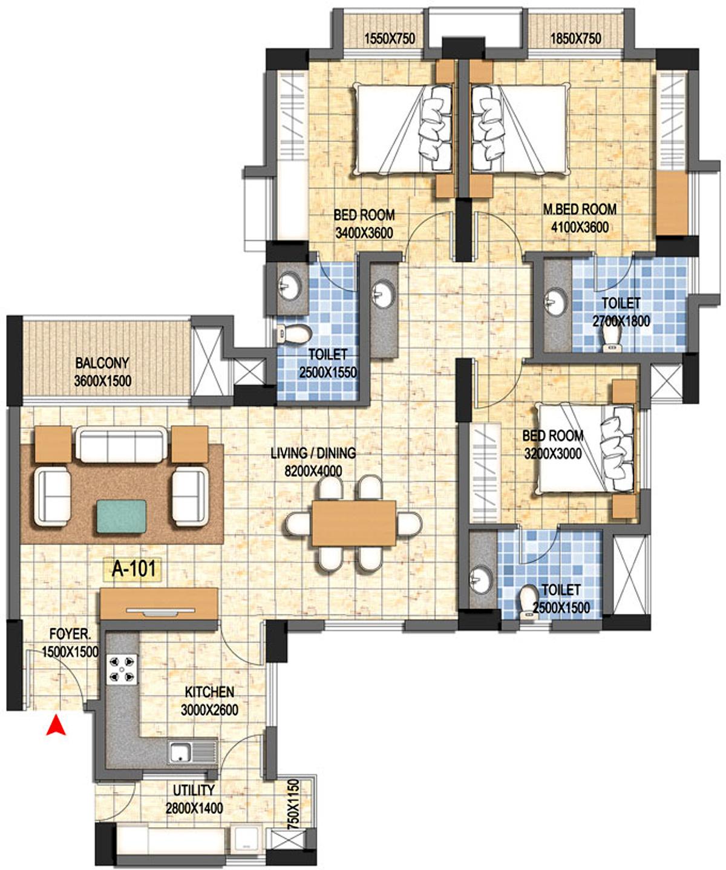 Asten campus court in kakkanad kochi price location for Floor plans for realtors