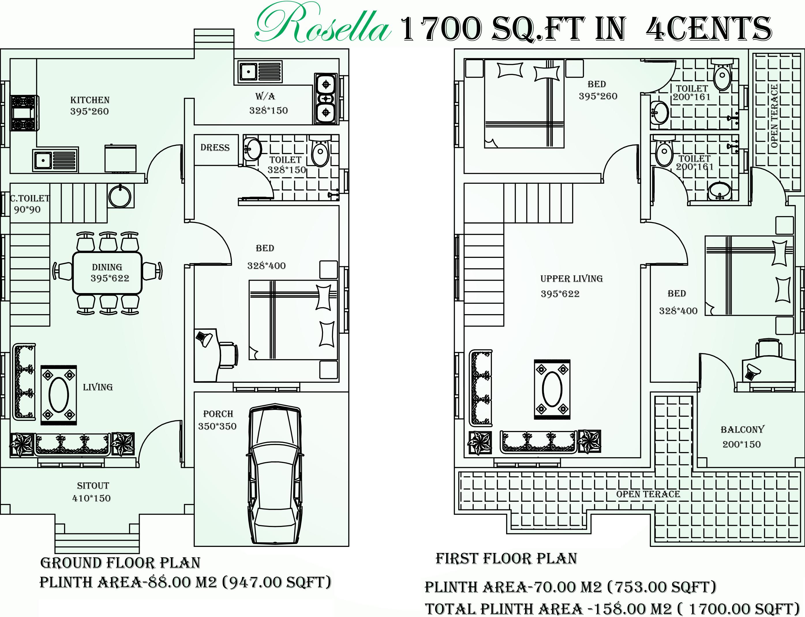 Mather House Floor Plan   Mather Green Ranch In Kunnukara Kochi Price Location Map Floor