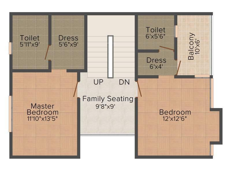 Leverage Greens Villa (3BHK+3T (1,720 sq ft) 1720 sq ft)