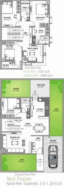 Leverage Greens Villa (4BHK+4T (1,984 sq ft) 1984 sq ft)