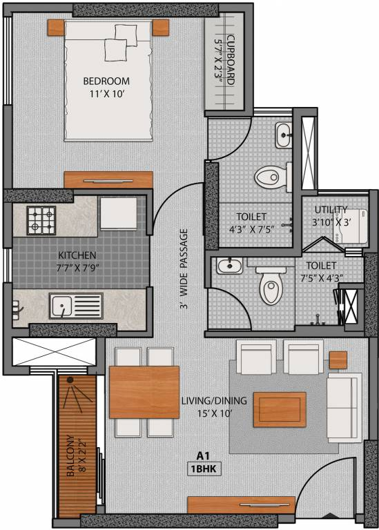 640 sq ft 1 bhk 1t apartment for sale in axis spaces la for 640 sq ft