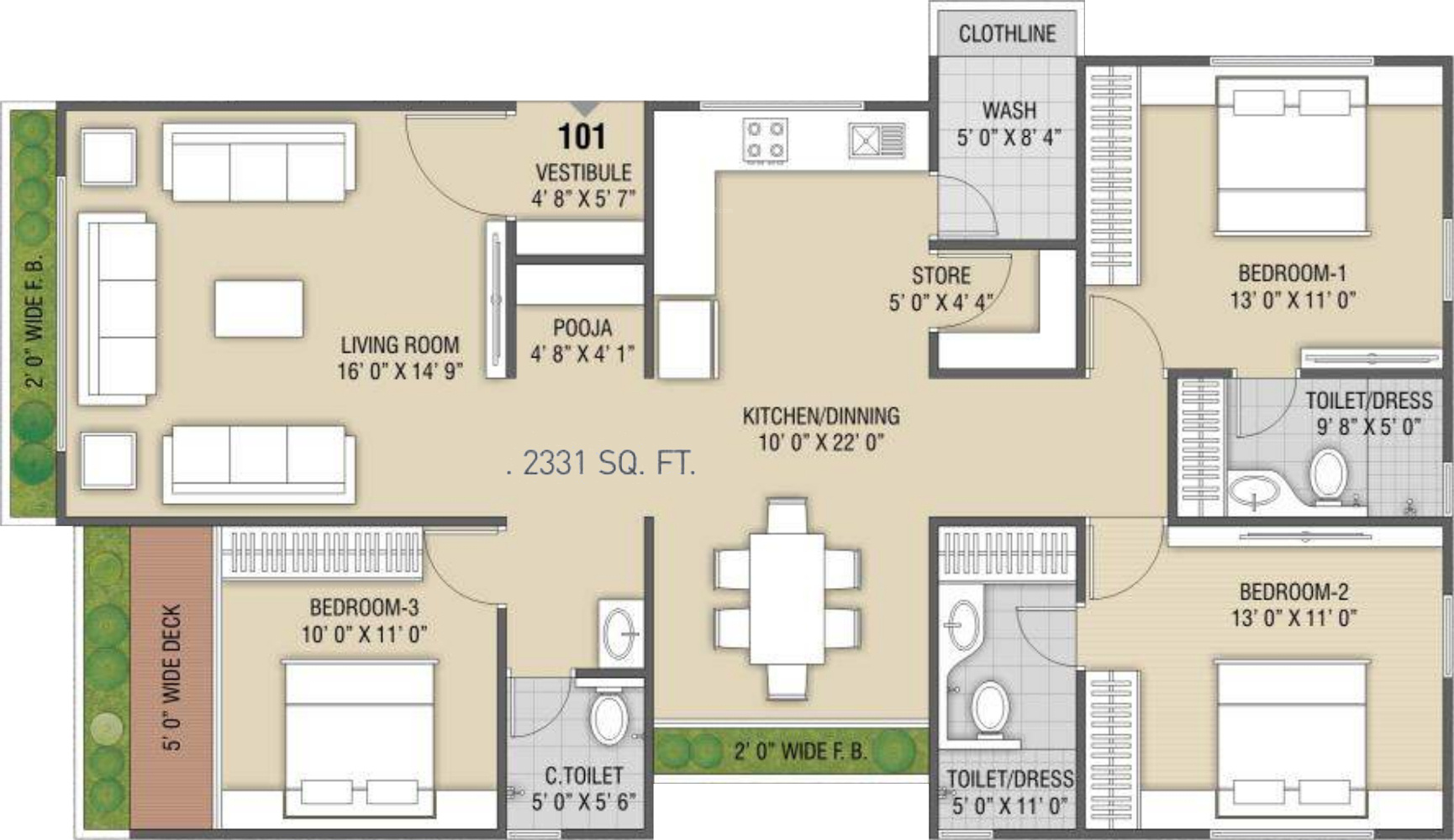 Western sankheshwara heights in adajan surat price for Western floor plans
