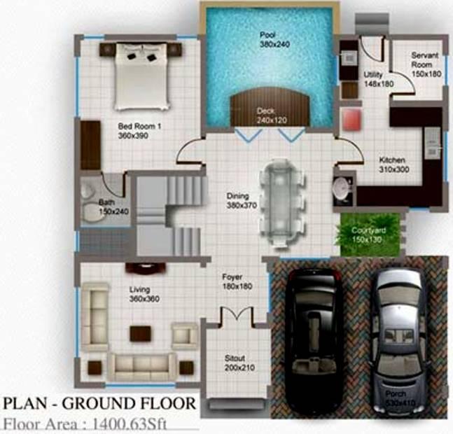 Kallat Pool Villas (4BHK+4T (2,500 sq ft) + Study Room 2500 sq ft)
