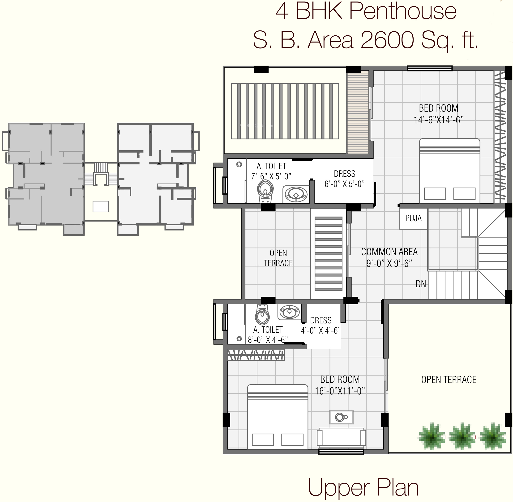 2600 Sq Ft 4 Bhk 4t Apartment For Sale In Everest Infra
