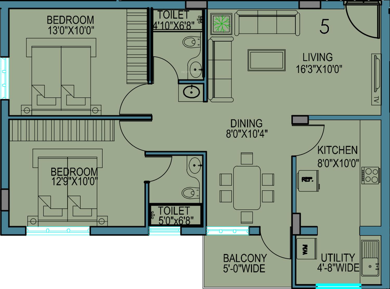 Bhoomi dhruva residency in jeppinamogaru mangalore for X2 residency floor plan
