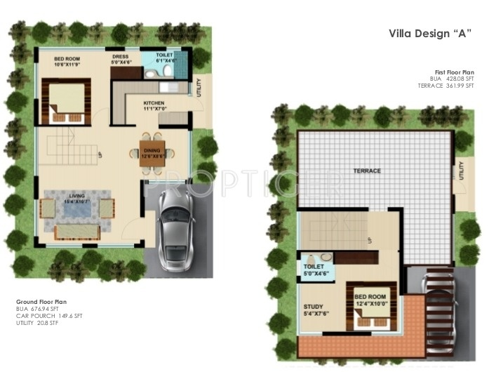 1150 sq ft 2 bhk 2t villa for sale in first homes hansika for 1150 sq ft house plans