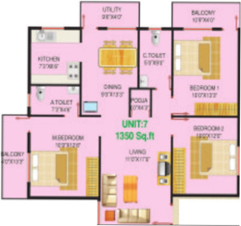 Lakvin kk residency in rajarajeshwari nagar bangalore for X2 residency floor plan