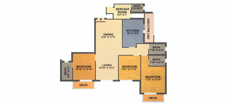 DLF New Town Heights (3BHK+3T (2,100 sq ft) 2100 sq ft)