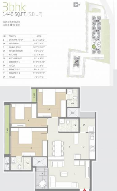 Goyal Orchid Greens (3BHK+2T (1,446 sq ft) 1446 sq ft)