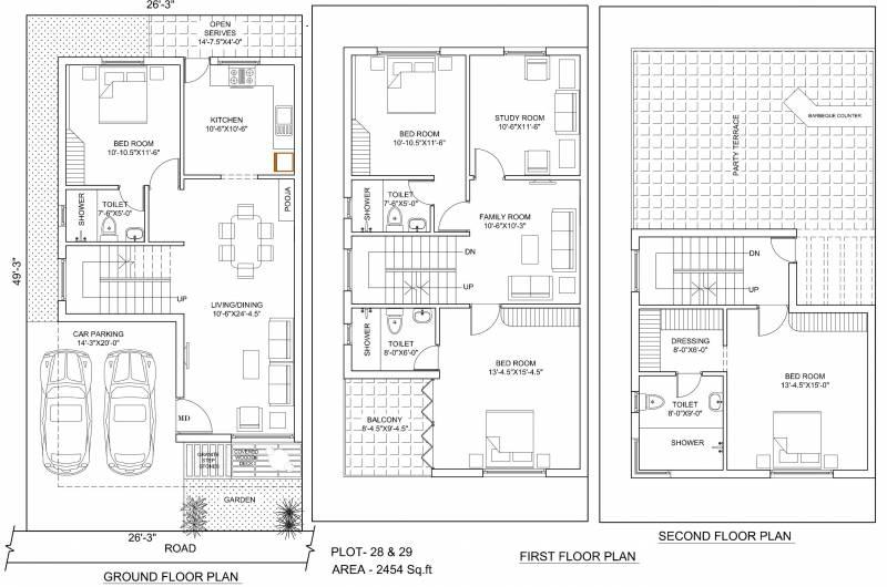Poomalai The Wind (4BHK+4T (2,454 sq ft) + Study Room 2454 sq ft)