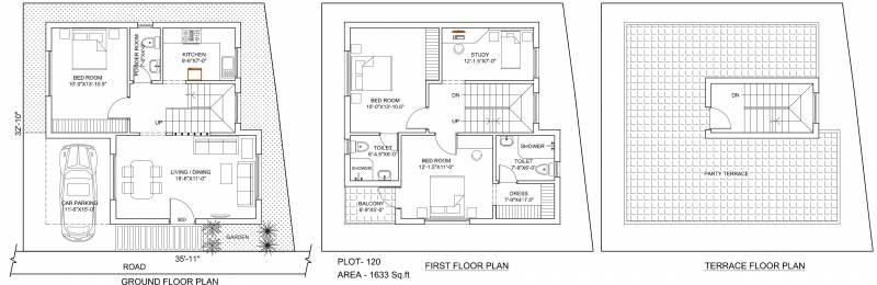 Poomalai The Wind (3BHK+3T (1,633 sq ft)   Study Room 1633 sq ft)