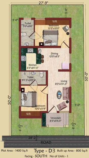 Serene Indus Valley (2BHK+2T (800 sq ft) 800 sq ft)