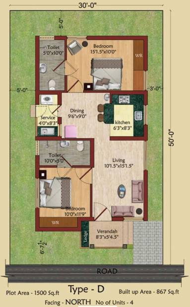 Serene Indus Valley (2BHK+2T (867 sq ft) 867 sq ft)