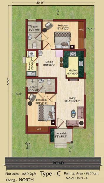Serene Indus Valley (2BHK+2T (935 sq ft) 935 sq ft)