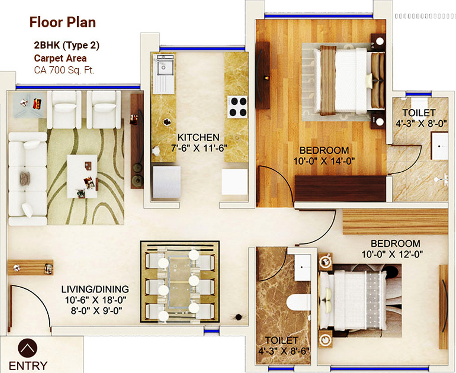 1120 sq ft 2 bhk 2t apartment for sale in man for 1120 westchester place floor plan