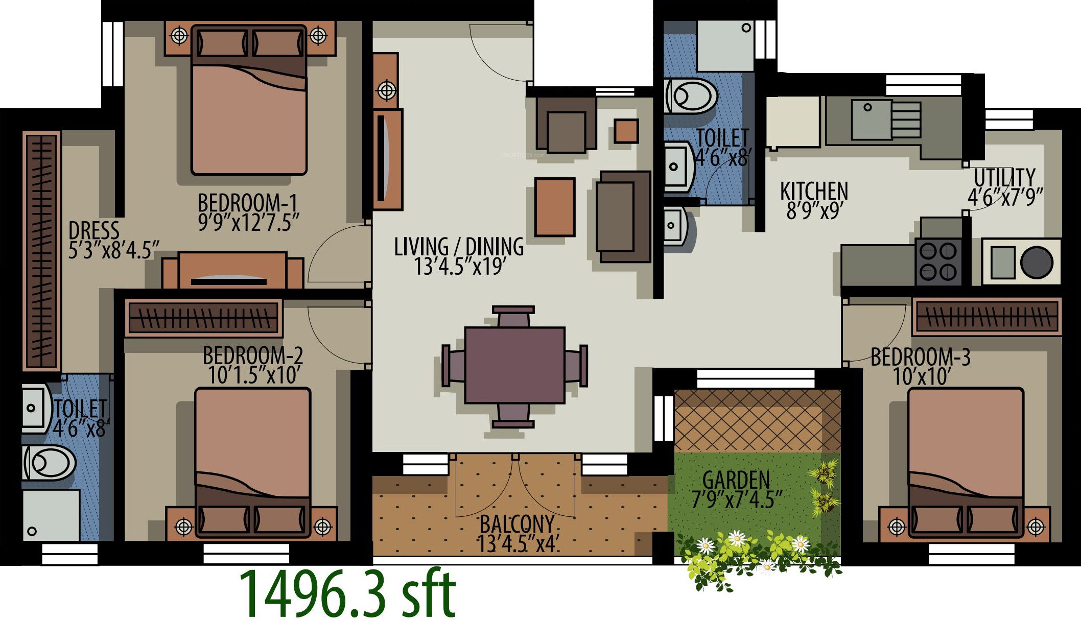 House of colors floating gardens in whitefield hope farm for Floating house floor plans