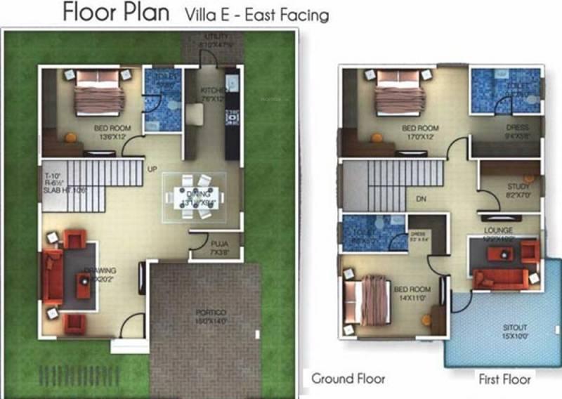 Golden Golden Homes III (3BHK+3T (2,212 sq ft)   Study Room 2212 sq ft)
