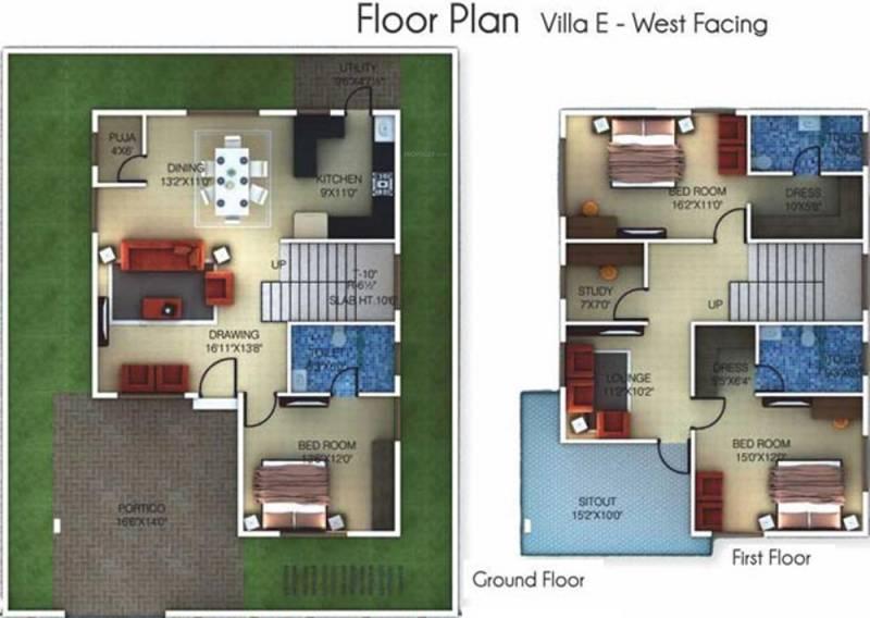 Golden Golden Homes III (3BHK+3T (2,236 sq ft)   Study Room 2236 sq ft)