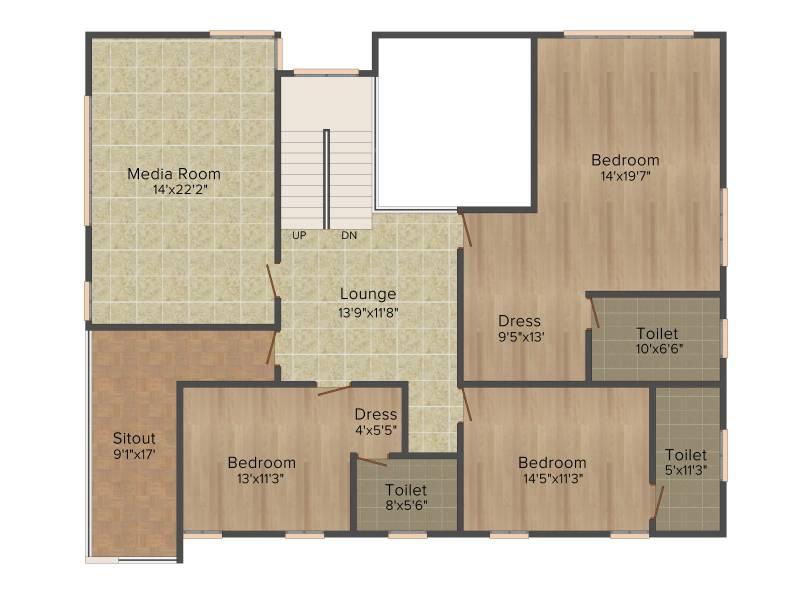 Golden Golden Homes III (4BHK+4T (3,960 sq ft) + Servant Room 3960 sq ft)