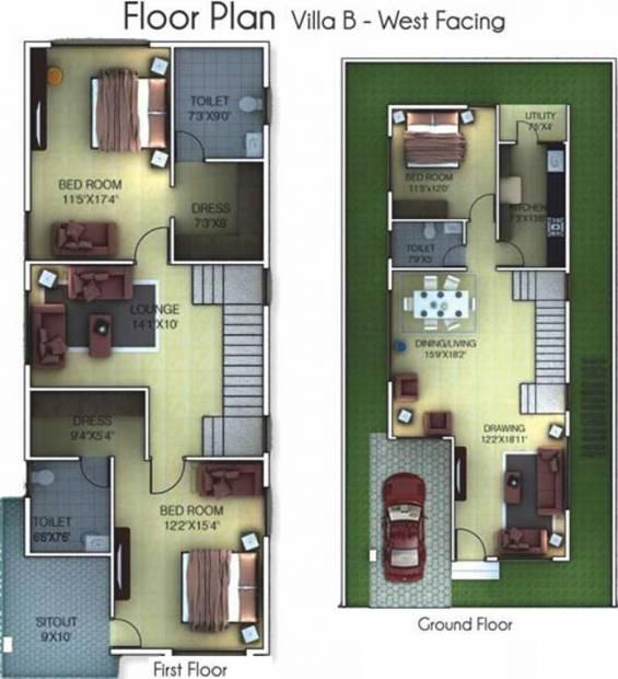 Golden Golden Homes III (3BHK+3T (2,083 sq ft) 2083 sq ft)