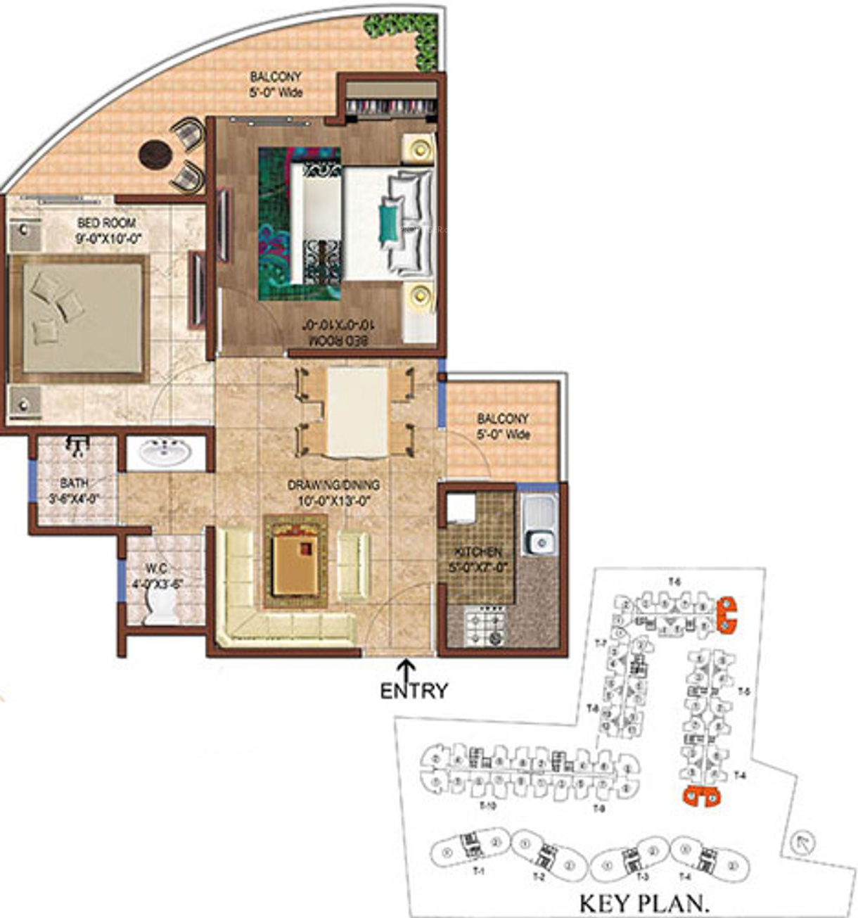 790 Sq Ft 2 Bhk 1t Apartment For Sale In Rise Projects