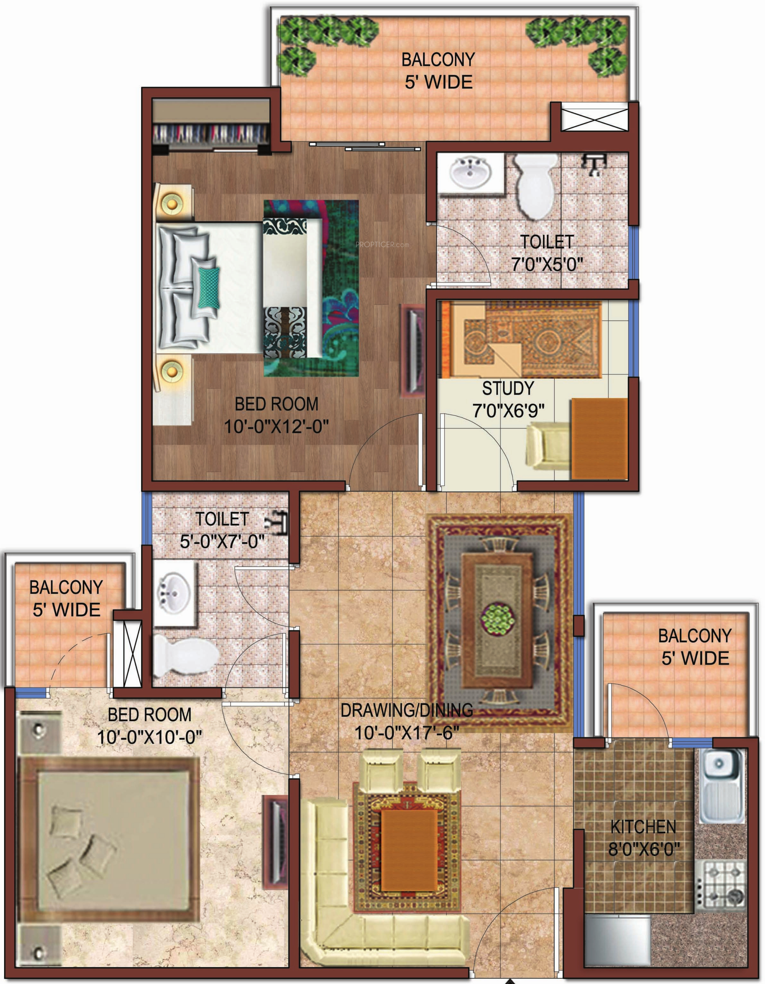 1050 sq ft 2 bhk 2t apartment for sale in rise projects for 1050 sq ft floor plans