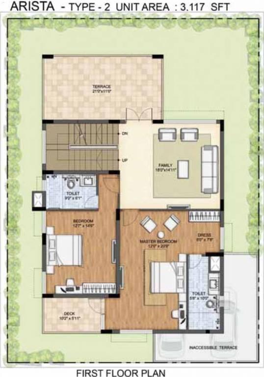4800 sq ft 4 bhk 5t villa for sale in prestige lakeside for Lakeside floor plan