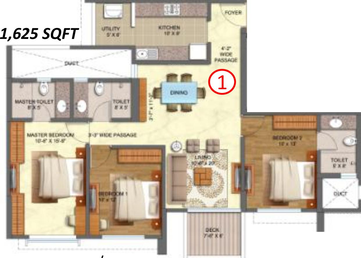 Srachi vicinia by shapoorji pallonji real estate in powai for Real estate floor plan pricing