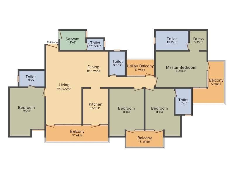Patel Neo Town (4BHK+5T (2,425 sq ft) + Servant Room 2425 sq ft)