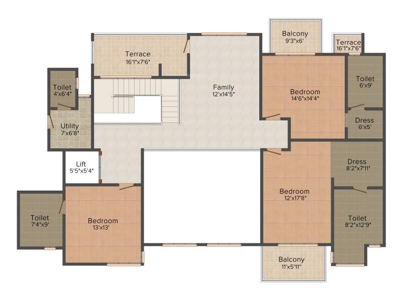 Experion Windchants (5BHK+5T (6,325 sq ft) + Servant Room 6325 sq ft)
