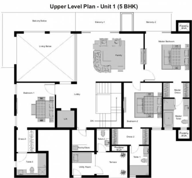 Experion Windchants (5BHK+6T (6,525 sq ft) + Servant Room 6525 sq ft)
