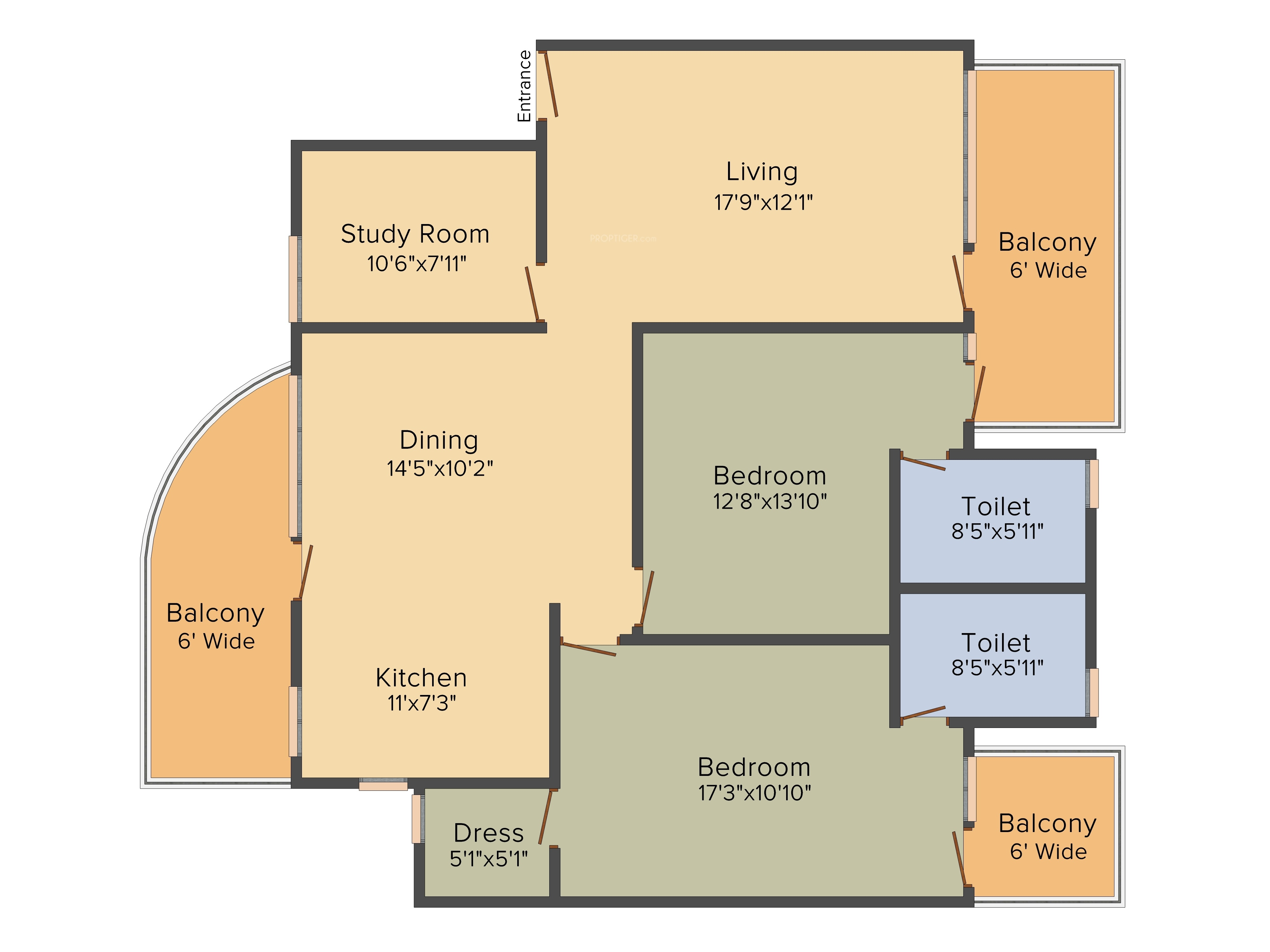 550 Sq Ft House Pareena Enorme In Sector 99a Gurgaon Price Location