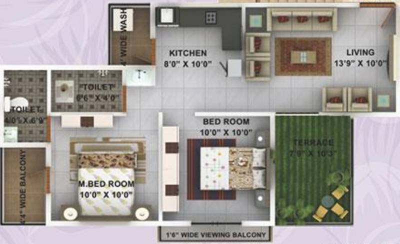 Kwality Enclave (2BHK+2T (920 sq ft) 920 sq ft)