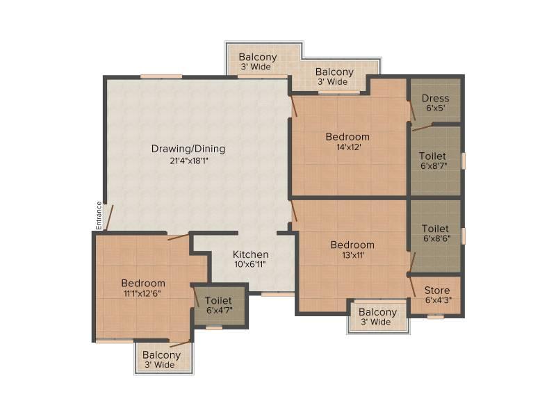 Preet Rohit Residency (3BHK+3T (1,652 sq ft) 1652 sq ft)