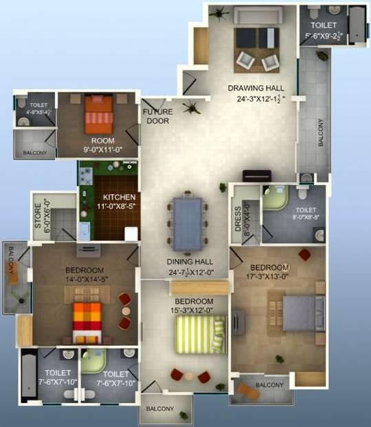 Preet Rohit Residency (4BHK+5T (2,435 sq ft) 2435 sq ft)