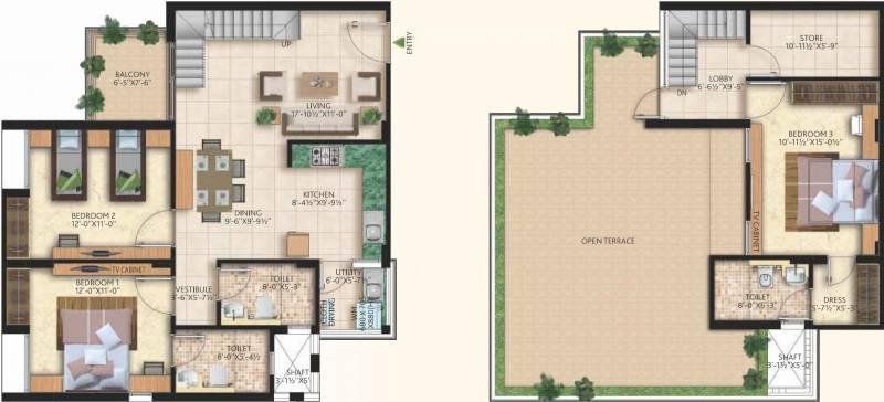 Mahima Nirvana (3BHK+3T (2,066 sq ft) 2066 sq ft)